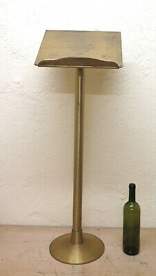 Lectern Brass Vintage with Stem Extendible Stand Exhibitor a Column G