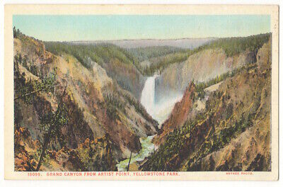 Grand Canyon of Yellowstone National Park c1920's Artist Point, Haynes Photo