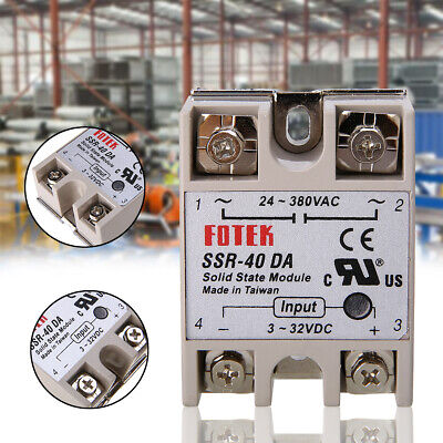 3-32V DC To 24-380V 40A SSR-25 DA Solid State Relay Module With Safety Cover uk