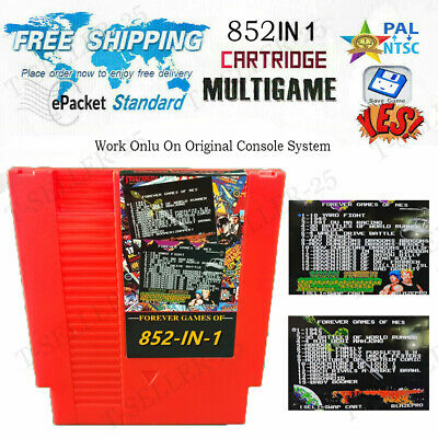 ✅ 852 in 1 Multi Cartridge Retro Game For NES Console PAL NTSC Tested 2020