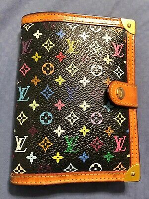Authentic Louis Vuitton Black Multi Agenda Planner Wallet PM