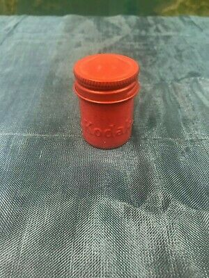 "Rare Vintage - Kodak 35Mm Film ""Red"" Metal Can Canister Container - Beautiful"