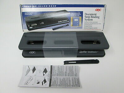 GBC Desktop Velobinder Document Binding System UNUSED - Imperfect Box