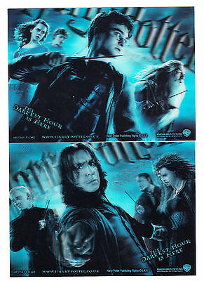 2009 Harry Potter And The Half Blood Prince Large Lenticular Promo Card Set Of 2