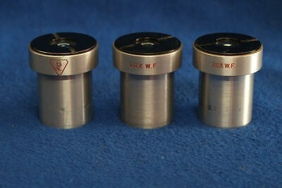 Bausch and Lomb 20x Stereo Microscope Eyepieces 3 pcs.  with Reticle