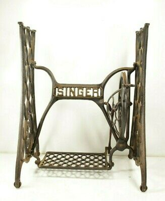 Antique 1904 Singer Treadle Sewing Machine Base Cast Iron Steampunk Vintage