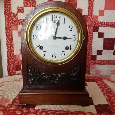 Sessions 8 Day Time and Strike Mahogany Mantel Clock