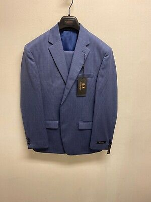 Anzuge Kleidung Accessoires Austin Reed Mens Blue Herringbone Business Office 100 Wool Suit Jacket Blazer Mytaxcompany Com