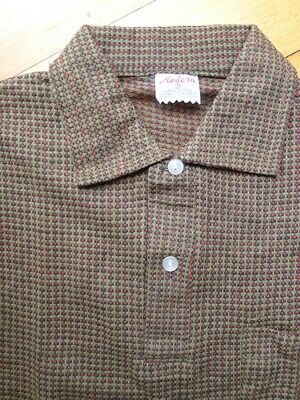 Vintage 50s unused 10 - 12 years children's boys cotton knit polo shirt NOS