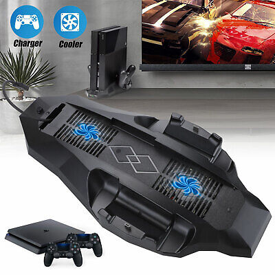 3000RPN Cooling Fan Station Vertical Stand Faster Cooler Charger For PS4 Console
