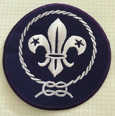 LARGE WORLD SCOUT BADGE (12.7 cm diameter) Great for camp blankets, Embroidered!