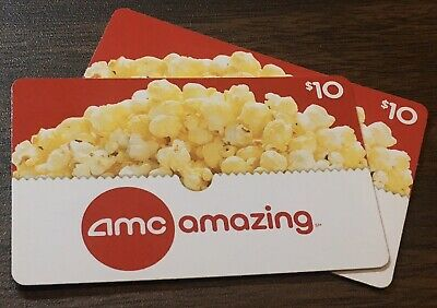$20 AMC Theatres Gift Card (Two $10 Cards)