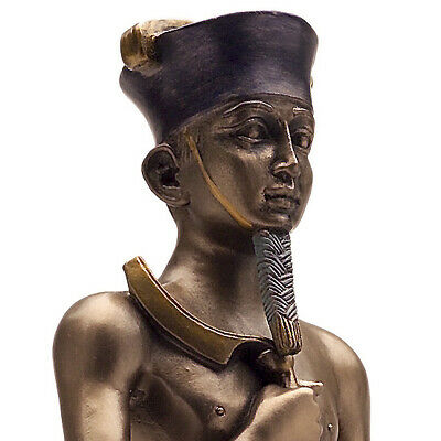 Amun Re Statue Egyptian Figurine Sun God Ra Ankh Amon Ancient Egypt Deity Cold C