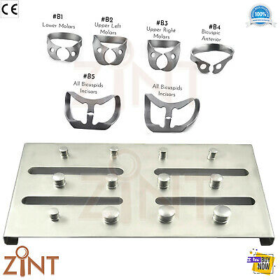 Dental Rubber Dam Kit Brinker Clamps Tissue Retractors Holding Tray St.Steel X7