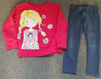 Gorgeous Girls, 2 Piece Outfit, Top And Leggings, 4-5 Years