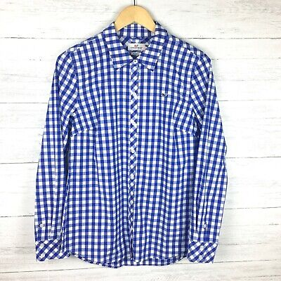 NWOT Vineyard Vines Women's Blue and White Gingham Check Shirt Button Front 8