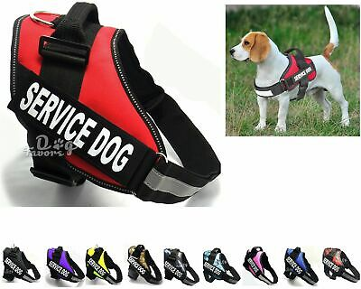 Puppy Service Dog Vest Harness Reflective With Handle Adjustable Patches 8 Sizes
