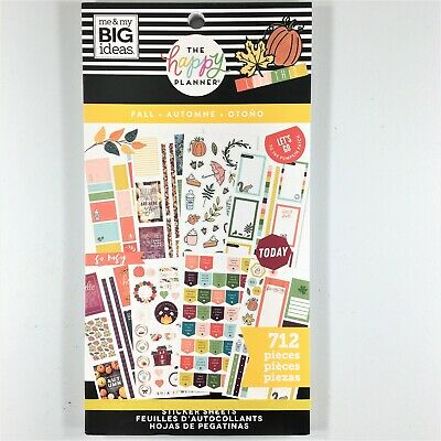 The Happy Planner Fall Sticker Book Pack Of 712 Me & My Big Ideas