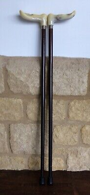 Pair Of Comfy Grip Walking Sticks Left & Right Handed Anatomically Shaped