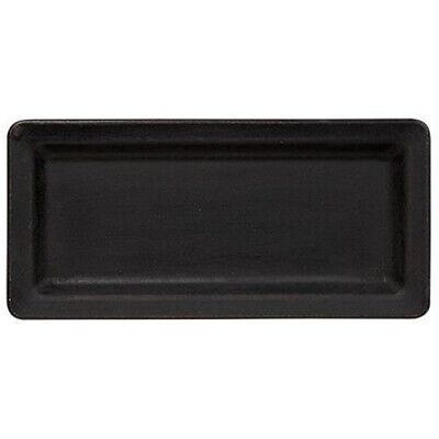 New Country Primitive Folk Art BLACK WOODEN CANDLE TRAY Plate Dish Centerpiece
