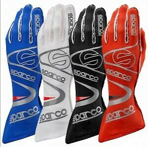 New Sparco Go Kart Sublimated Racing Gloves Available in All Sizes