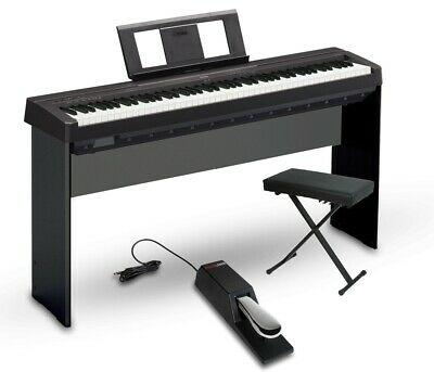 Yamaha P-45 88-Key Weighted Action Digital Piano Black Intermediate Home Package