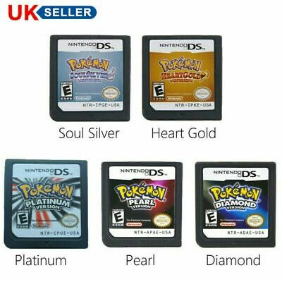 Pokemon Heart Gold / Soul Silver Version Game Card Fits Nintendo 3DS NDSI NDS