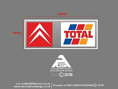 Citroen Total Rear Window Sticker in colour - Berlingo, Xsara, AX, Saxo, ZX, C15