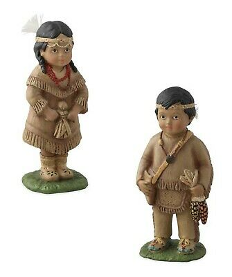Bethany Lowe Set Of 2 Thanksgiving Indian Children TD6065 New