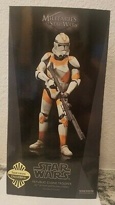 SIDESHOW EXCLUSIVE STAR WARS UTAPAU TROOPER 212th NEW SEALED IN SHIPPER EP 3