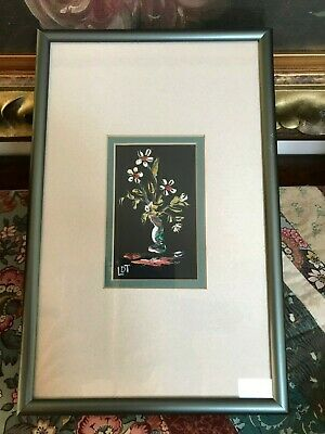 Original Signed LDT Oil Painting Montreal Canada Artist Denise Langlois Flowers