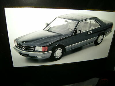 1:18 KK-Scale Mercedes-Benz 560 SEC W126 blue/blau in OVP
