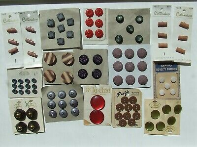 Vintage buttons on cards Lot 4.