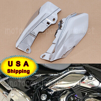 Big Blue Pearl Mid-Frame Air Deflectors Heat Shield For 2009-2016 Harley Davidson Street Road Electra Glide