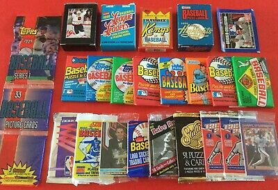 Huge Lot of  Baseball, Basketball, & Hockey Sealed Trading Card Packs & Sets