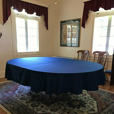 Cotton Twill Blend Tablecloth Rectangle or Oval in 12 sizes 20 colors easycare