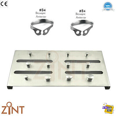 Restorative Dental Universal B4 Clamps Rubber Dam 12 Clamps Holding Tray S.Steel