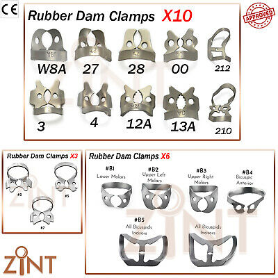 Rubber Dam Clamps Universal Ivory Endodontists Comprehensive Brinker Clamp Set