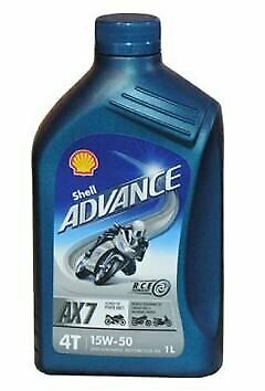 Shell 550044453 Advance 4T Ultra 15W 50 1Ltr Motor Cycle 4 Stroke Engine Oil