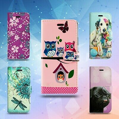 For Huawei P30 & More Book Wallet Leather Phone Fone Card Cash Slot Case Cover