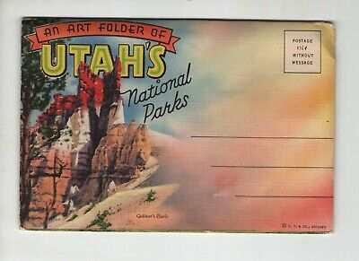 Vintage Post Card Folder - Utah's National Parks