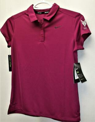 New Junior Girls Nike Dri Fit short sleeve polyester golf polo shirt LARGE