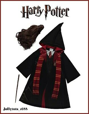 Girls Harry Potter Hermione Fancy Dress Costume Character Childrens Outfit BNWT