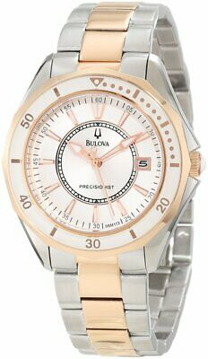 Bulova Women's Precisionist  WINTER PARK Two Bone Bracelet Watch 98M113