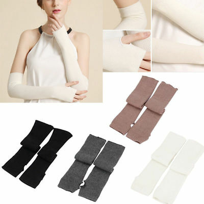 Lady Cotton Stretchy Long Fingerless Arm Sleeves Gloves Women Party Fashion-FS