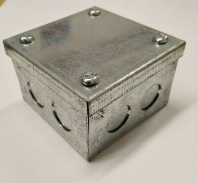 "Galvanised Adaptable Steel Box Electrical Enclosure 12x4x3/"" inches 305x100x76mm"