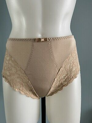 Vintage Victoria's Secret Panties NOS Second Skin Silky Nylon Lace Hi-Cut Sz L