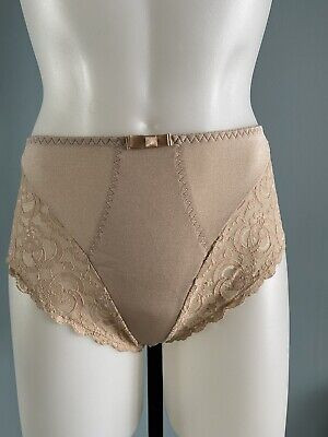 Vintage Victoria's Secret Panties Second Skin Silky Nylon Lace Hi-Cut Sz L