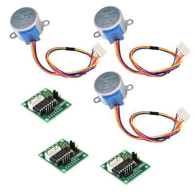 6pcs 5V Stepper Motor 28BYJ-48 With Drive Test Module Board ULN2003 5 Line New