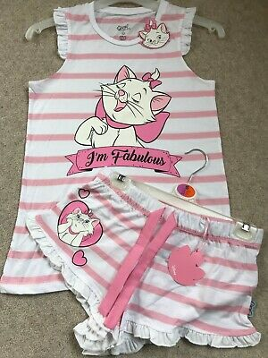 NEW Ladies Short DISNEY Pyjamas Aristocats Marie Cat Girls Cami Vest Primark